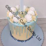 Baby Blue Drip Cake